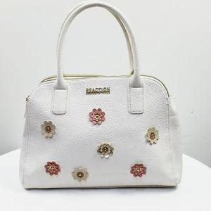 Kenneth Cole reaction white floral satchel
